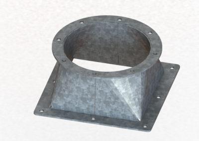 Kształtka - okrąg-kwadrat transportu grawitacyjnego