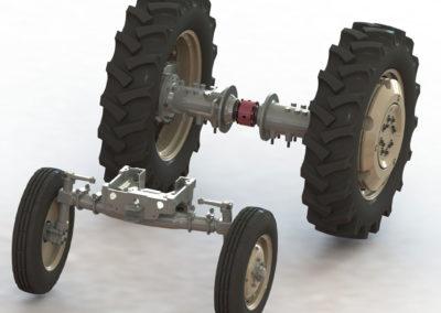 Model wybranych podzespołów ciągnika rolniczego